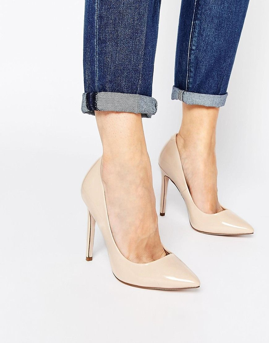 ASOS PLAYFUL Wide Fit Pointed Heels at