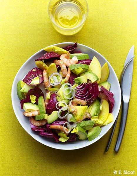 Avocado, mango and prawn salad - yummy!