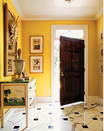 Yellow and Bright...entry?!   {Dream house}   Pinterest   Bright ...