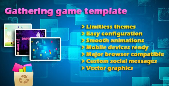 Gathering items game Template, Jquery  Tweenmax Template
