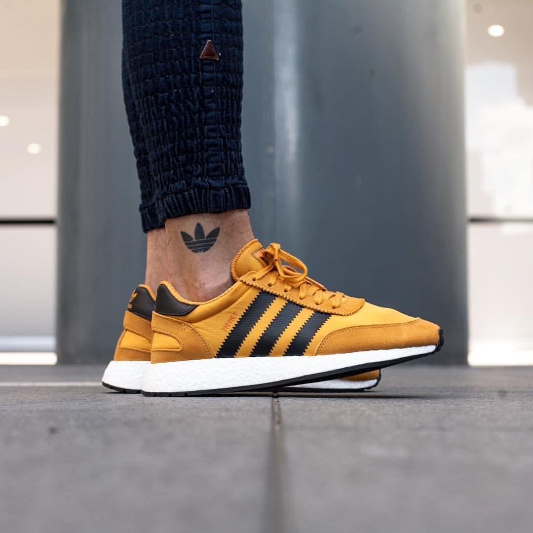Goldenrod Sneakers: Adidas Iniki Boost