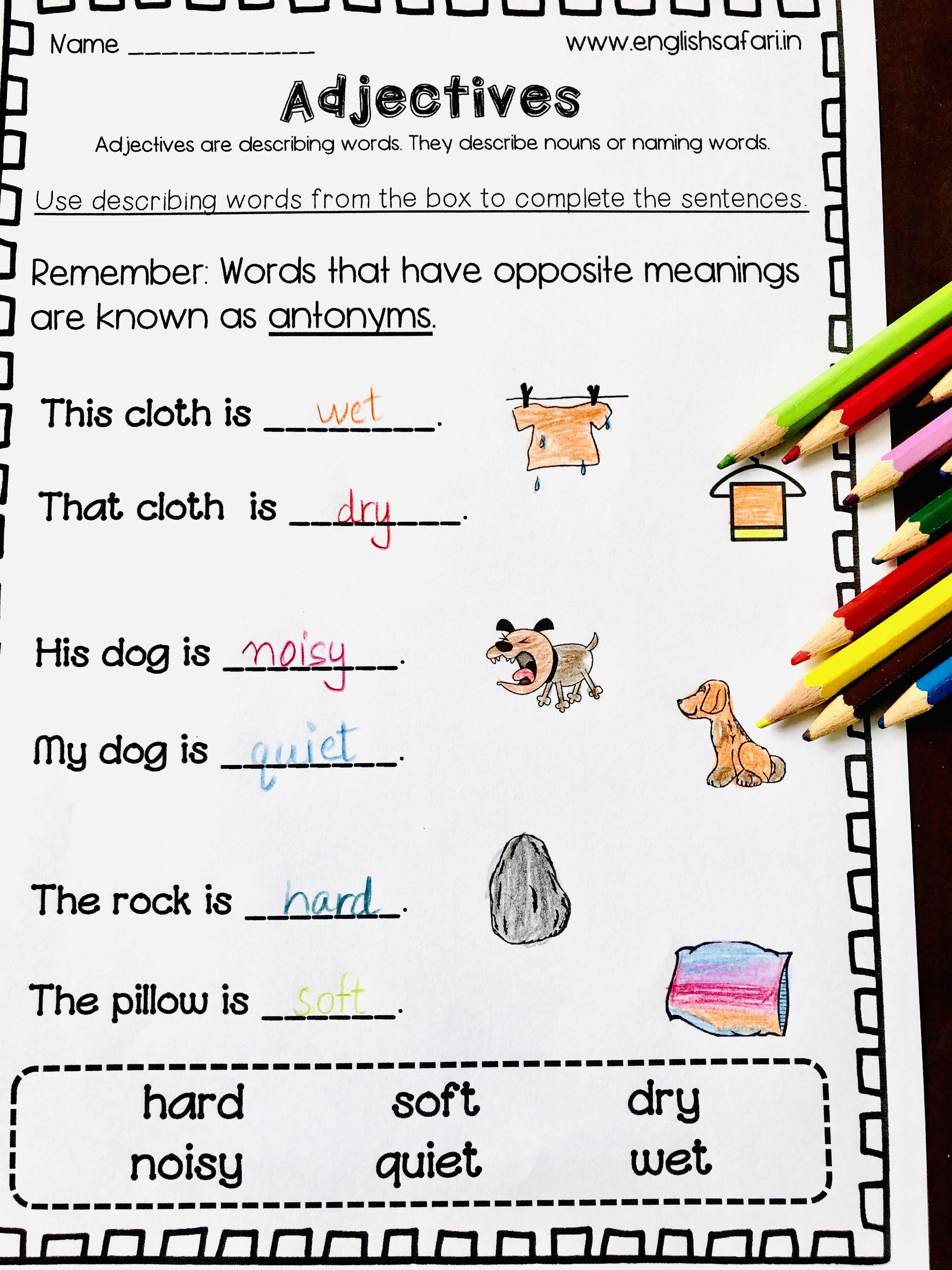 Describing Words Or Adjectives