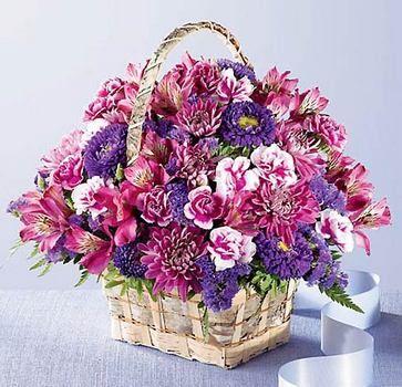 Brilliant Meadow Basket Get Well Flowers Large Flower Arrangements Flower Delivery