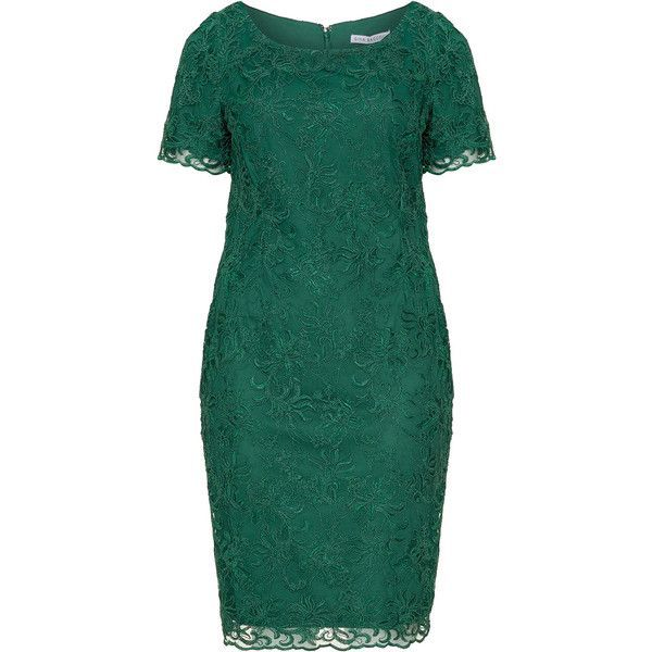 Gina Bacconi Dark-Green Plus Size Lace cocktail dress ($195 ...