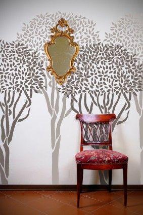 Pochoir pour murs arbre topiaire plus de 6 pi tall - Pochoir mural fee ...