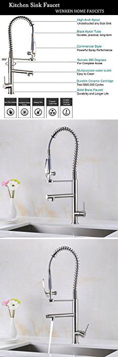 Touchless Kitchen Faucet Reviews. WENKEN Modern Single Handle ...