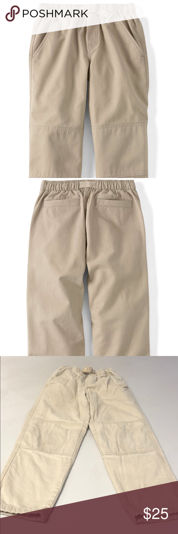 41cdc7f70 Lands' End Kids Boys Lined Khaki Pants Bundle and Save on shipping too Lands'  End Kids Boys Lined Khaki Pants Boys Iron Knee Pull On Climber Pants ...