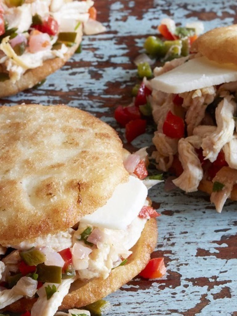 Arepas with Pulled Poblano Chicken | Weelicious