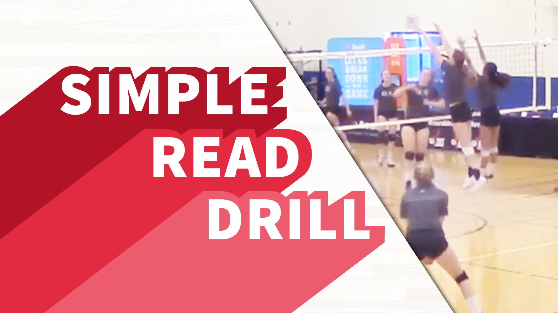 Simple Read Drill The Art Of Coaching Volleyball Coaching Volleyball Drill Volleyball Workouts