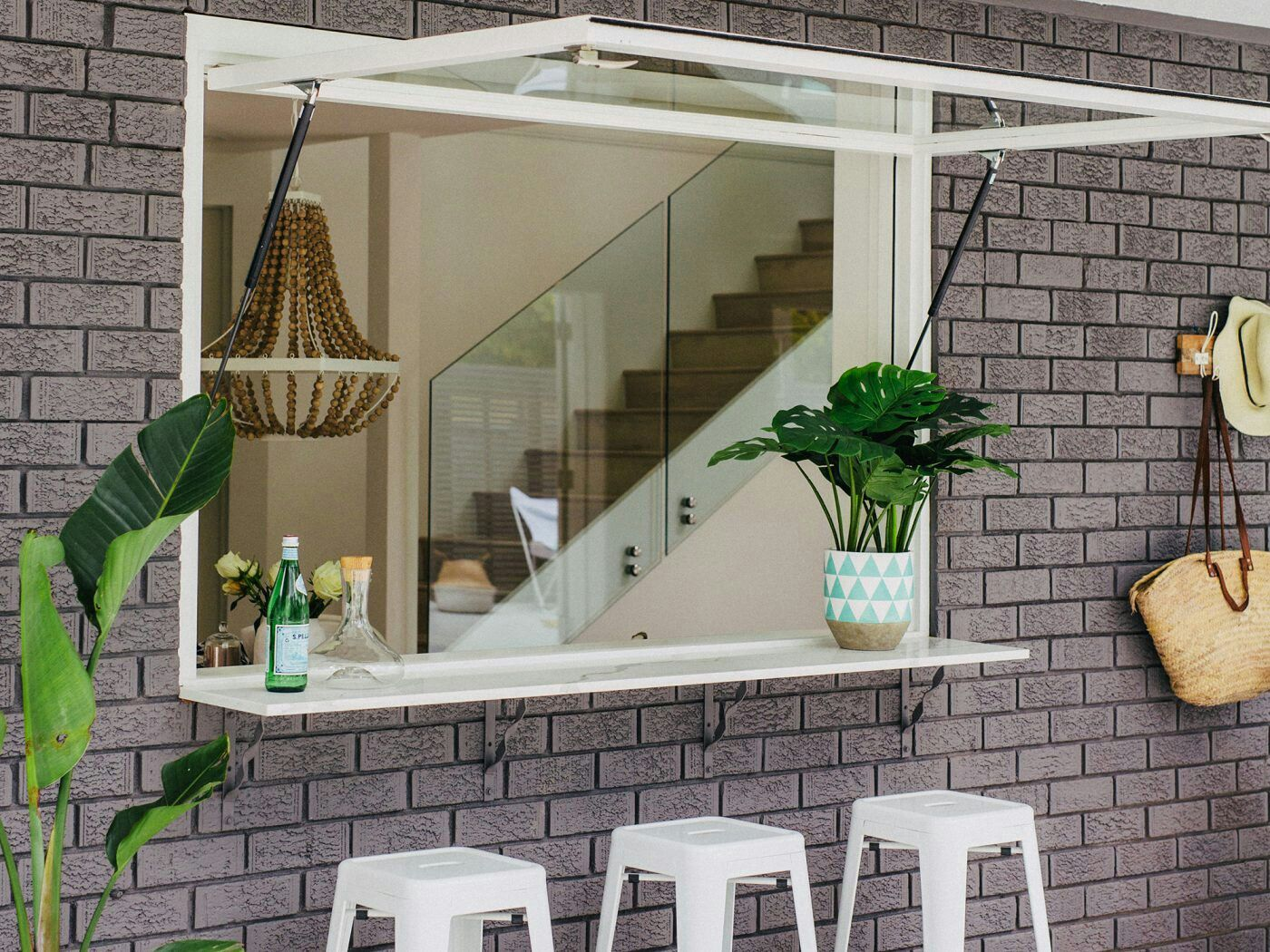 Kitchen servery window ideas  bifold windows open kitchen bar and servery  house exterior