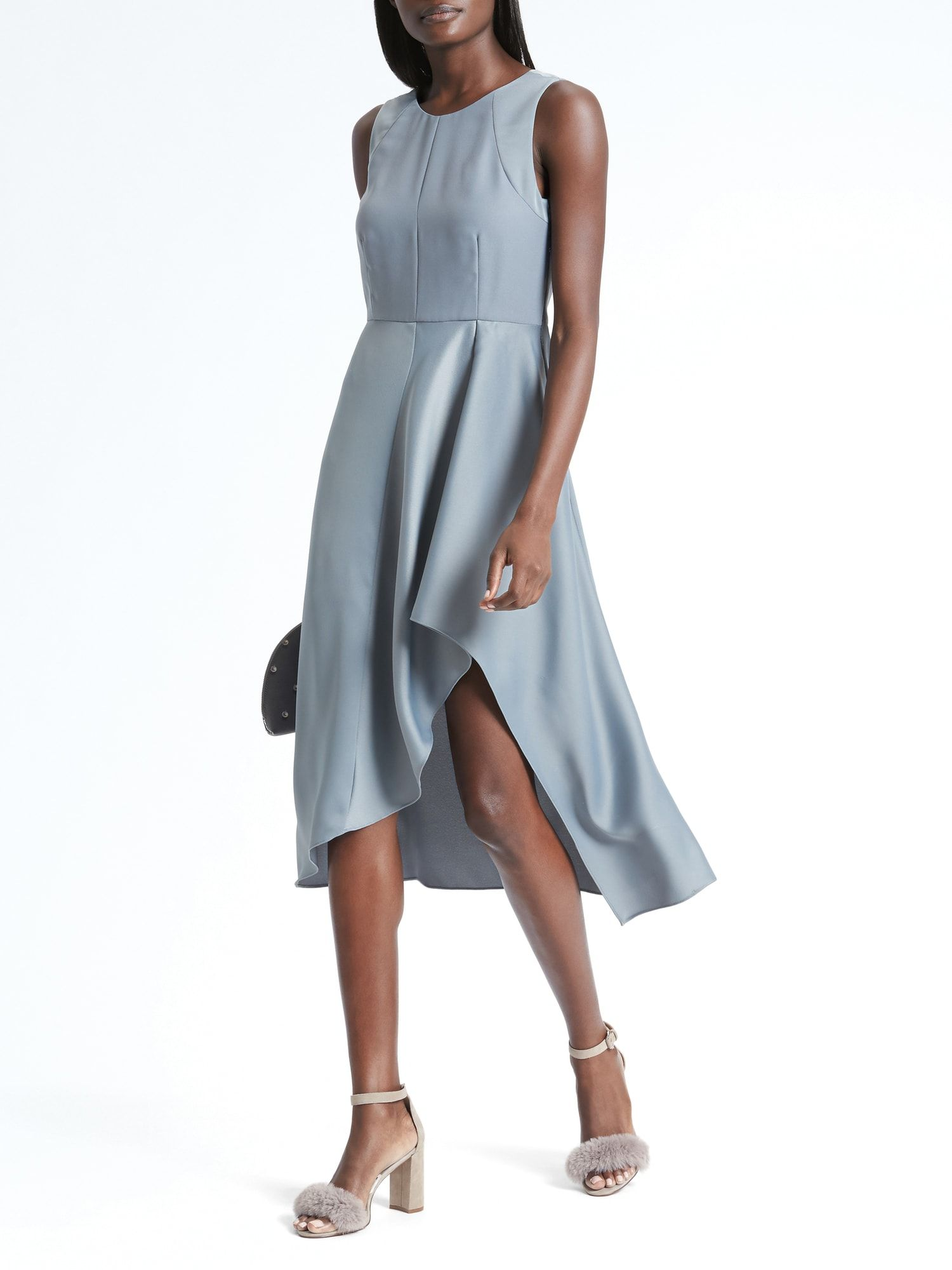 Factory tipped ponte dress style