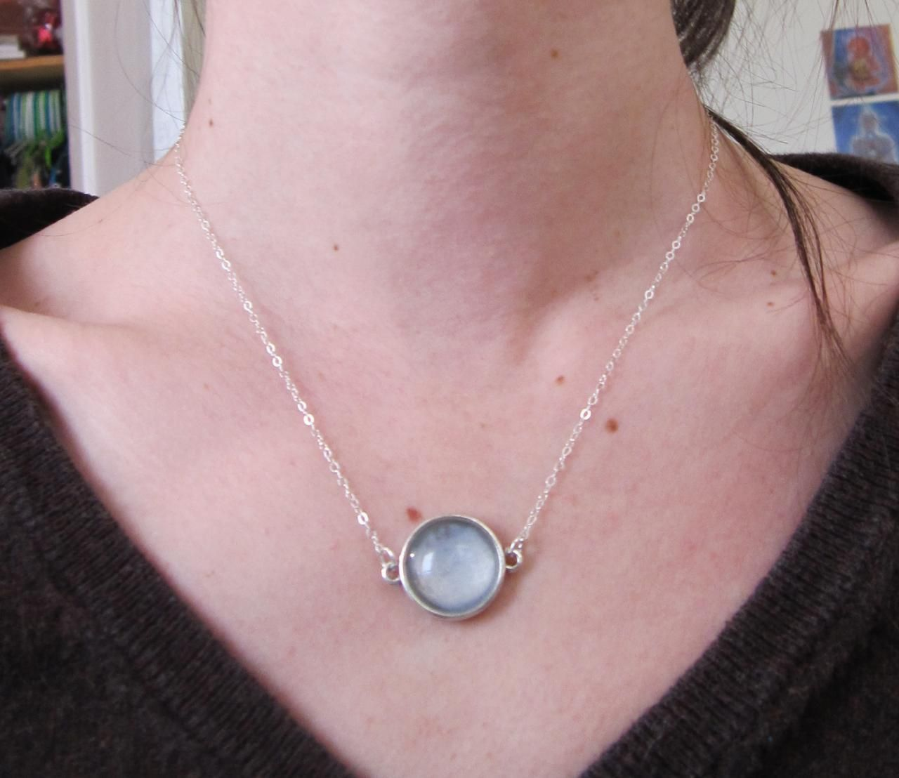 Small Lavender Circle Necklace Sterling Silver | Jewelry | Pinterest ...