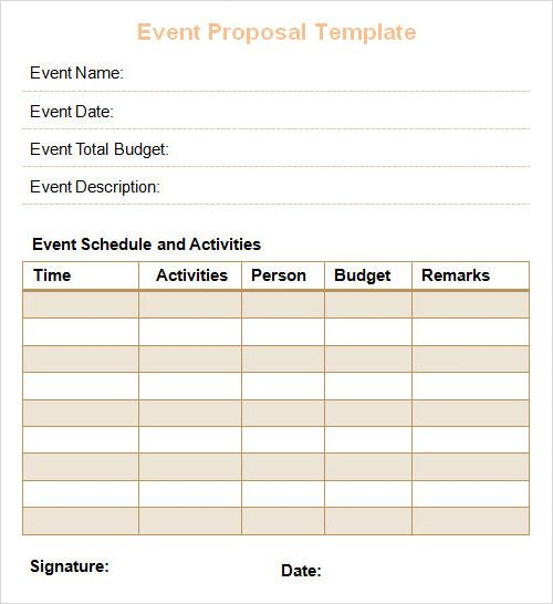 Event Proposal Template Brand Templates Pinterest Proposal