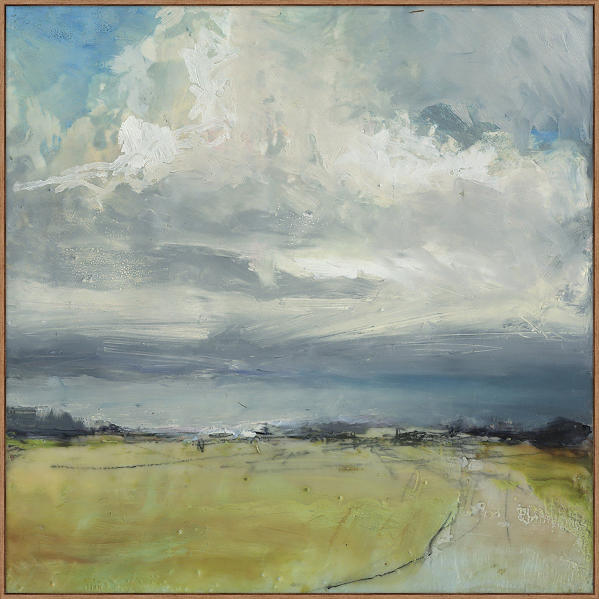 This Painting Is A Fresh Take On The Traditional Landscape It Features Painterly Strokes And A L Landscape Art Landscape Paintings Abstract Landscape Painting