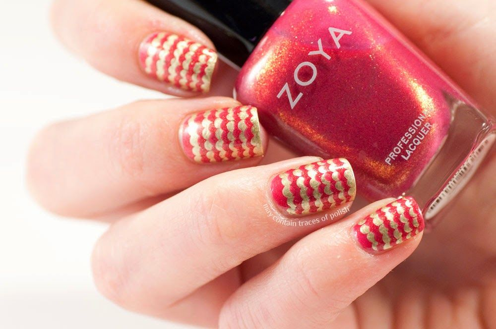 Bubbly stripes Zoya Mieko dotting tool dotticure