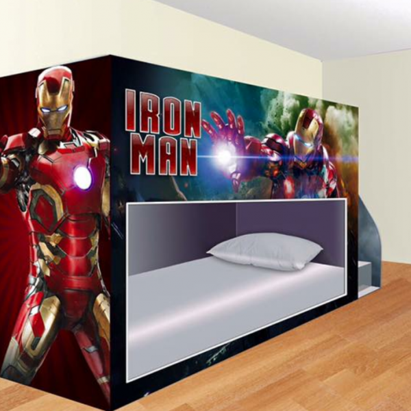 Marvelous Custom Made Iron Man Bunk Bed With Stairs 749 99 Theyellowbook Wood Chair Design Ideas Theyellowbookinfo