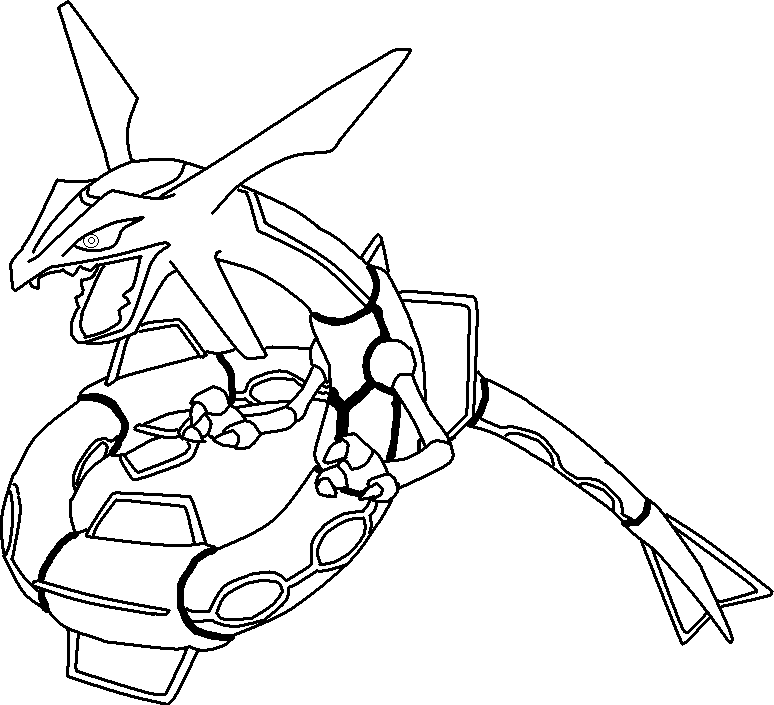 Normal Rayquaza Base By Shqandy On Deviantart Lineart Pokemon