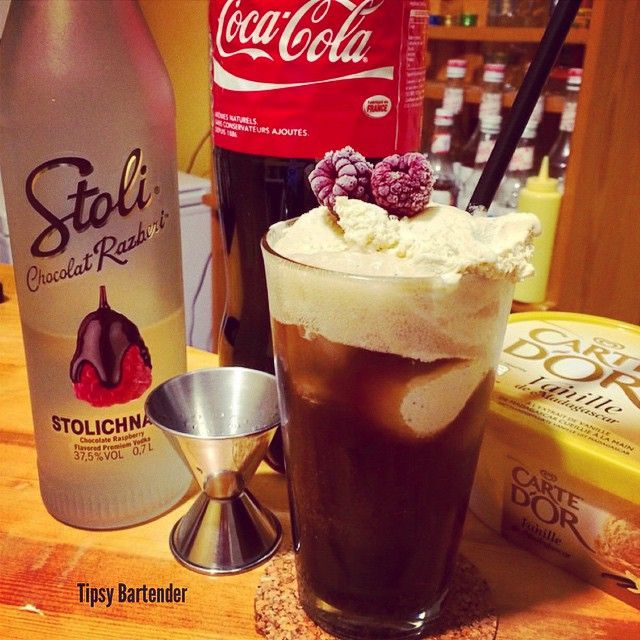 CHOCOLATE RASPBERRY VODKA FLOAT Stoli Chocolate Raspberry