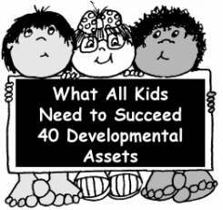 THE 40 DEVELOPMENTAL ASSETS: Assets are 40 key building blocks or factors that help youth grow up healthy. The more assets youth have, the more likely they are to avoid at-risk behaviors and succeed in life. What TEACHERS and parents can do to build assets in kids