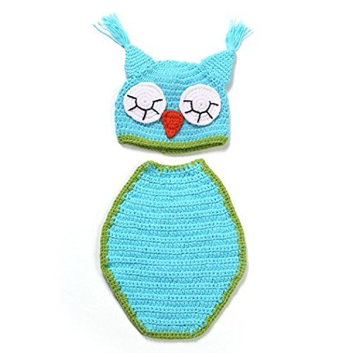 FEITONGTM Newborn Baby Cute Owl Cloak Knit Hat Costume Photography Prop Outfit Set *** Learn more by visiting the image link.Note:It is affiliate link to Amazon.