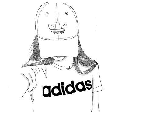 adidas outline and image imagenes de dibujos