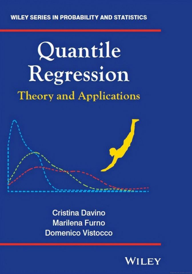DAVINO, Cristina; FURNO, Marilena; VISTOCCO, Domenico. Quantile regression: theory and applications. Chichester: John Wiley & Sons, 2014. xvi, 260 p. (Wiley series in probability and statistics). Inclui bibliografia (ao final de cada capítulo) e índice; il. tab. quad.; 24x16cm. ISBN 111997528X.  Palavras-chave: REGRESSAO QUANTILICA; ANALISE DE REGRESSAO.  CDU 519.2 / D259q / 2014