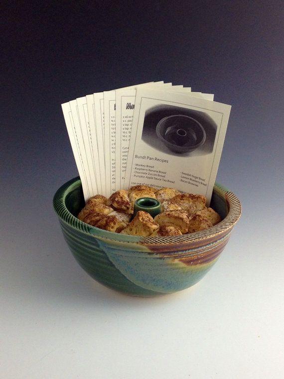 Bundt Pan Bread Baker W Recipe Cards Green Amp By