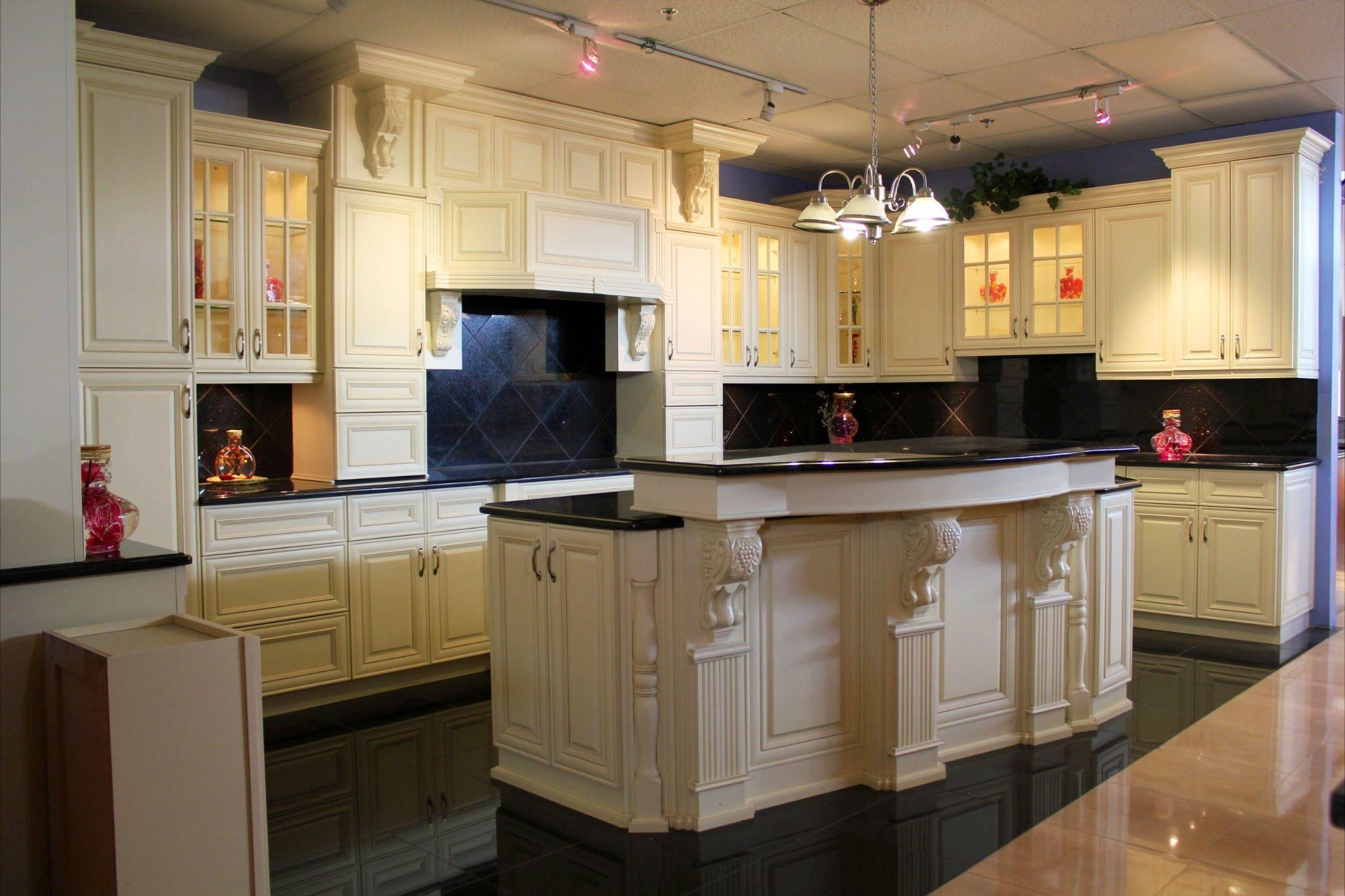 White kitchen cabinets black floor White kitchen