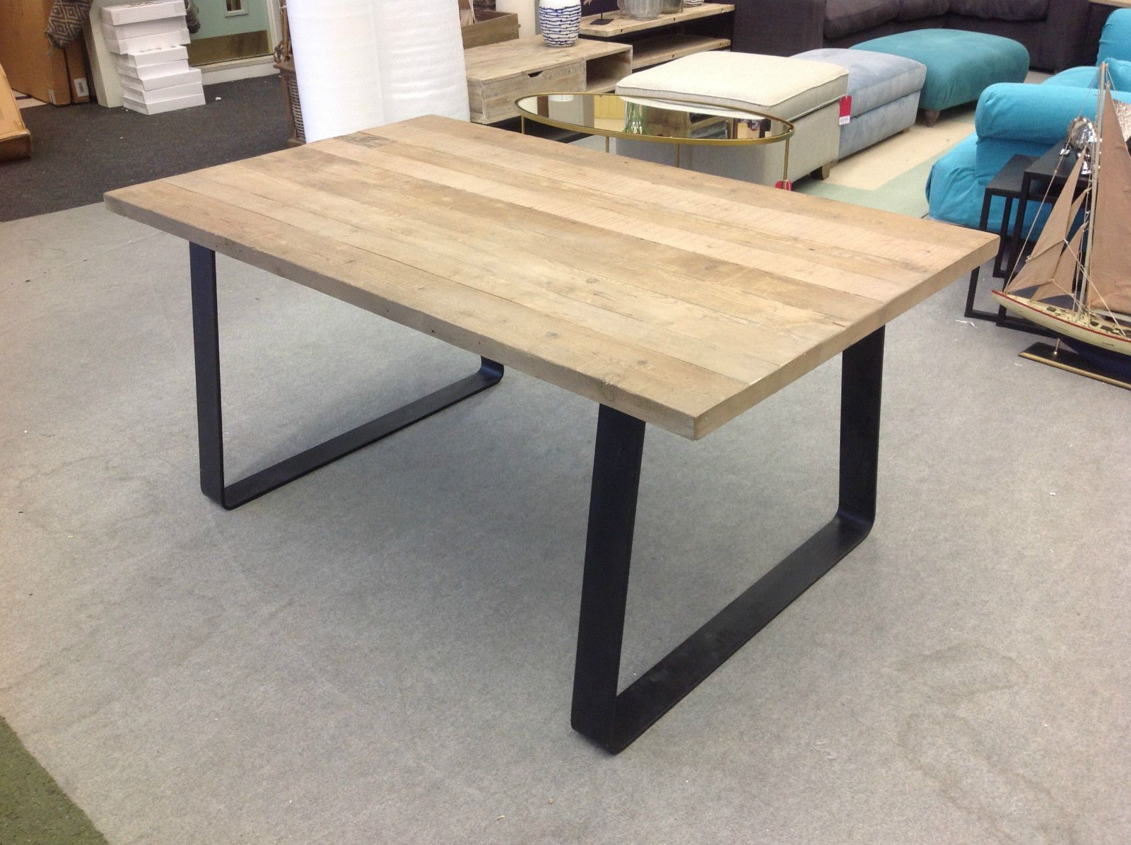 industrial diy furniture. Designer Brand Industrial Style Reclaimed Timber Top Dining Table (medium) Diy Furniture S