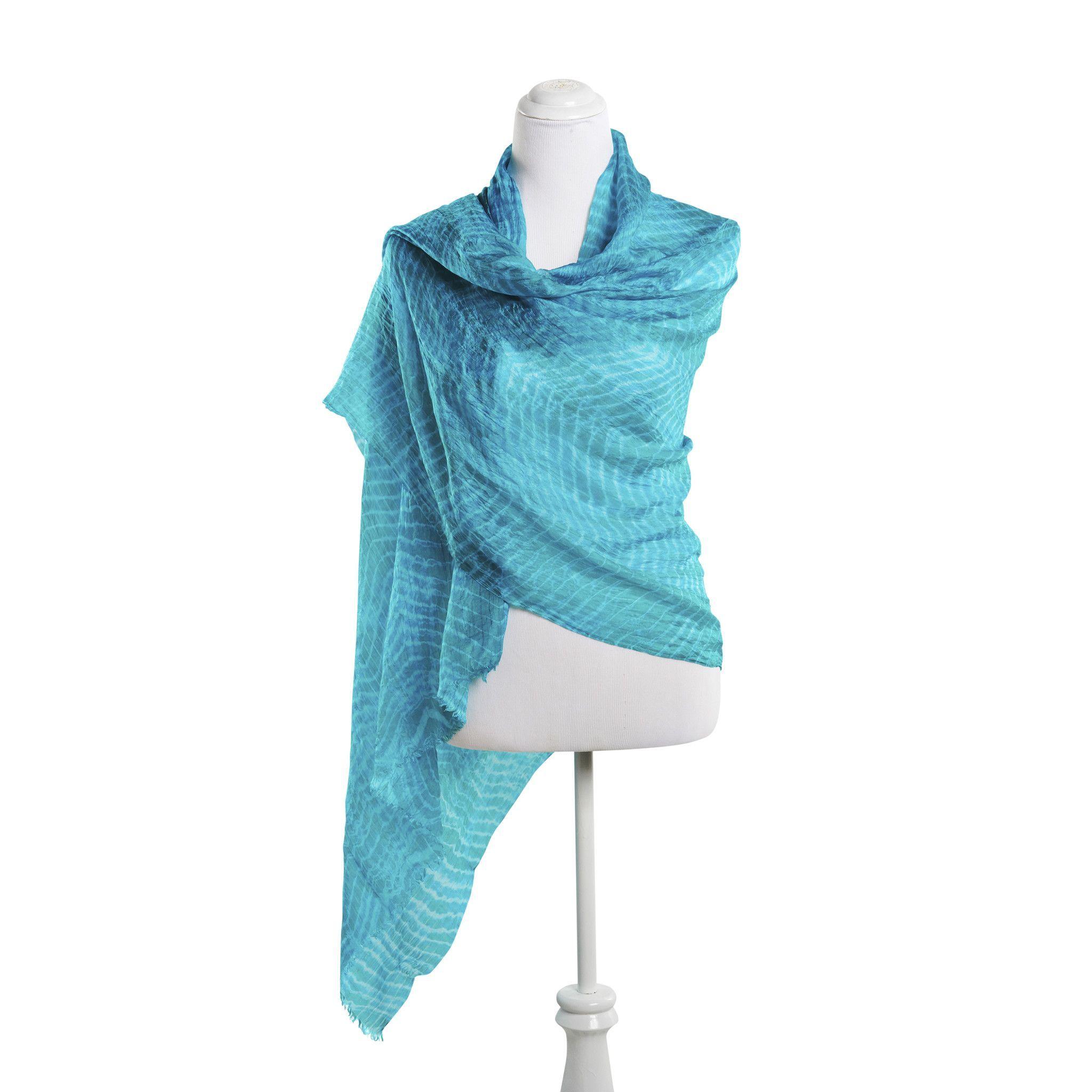 Turquoise Eric Raisina Tie Dye Wrap