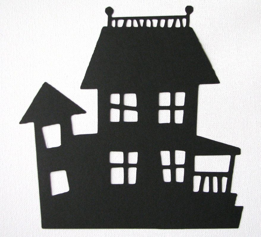 Haunted mansion silhouette google search boo Haunted house drawing ideas