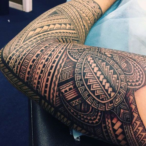 40 Polynesian Sleeve Tattoo Designs For Men Tribal Ink Ideas Samoan Tattoo Maori Tattoo Tattoos