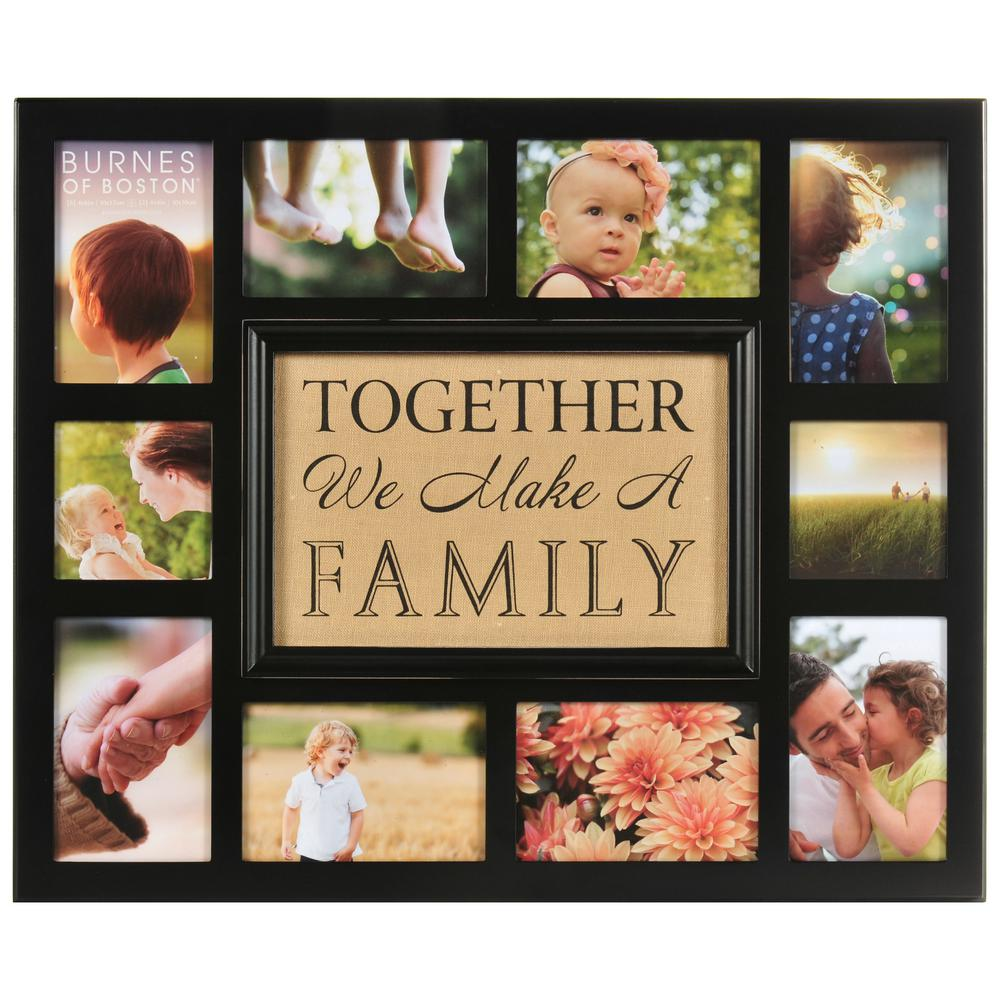 Pinnacle 10 Opening 4 In X 4 In 4 In X 6 In Collage Matted Picture Frame Distressed Black Family Picture Frames Family Collage Frame Family Collage