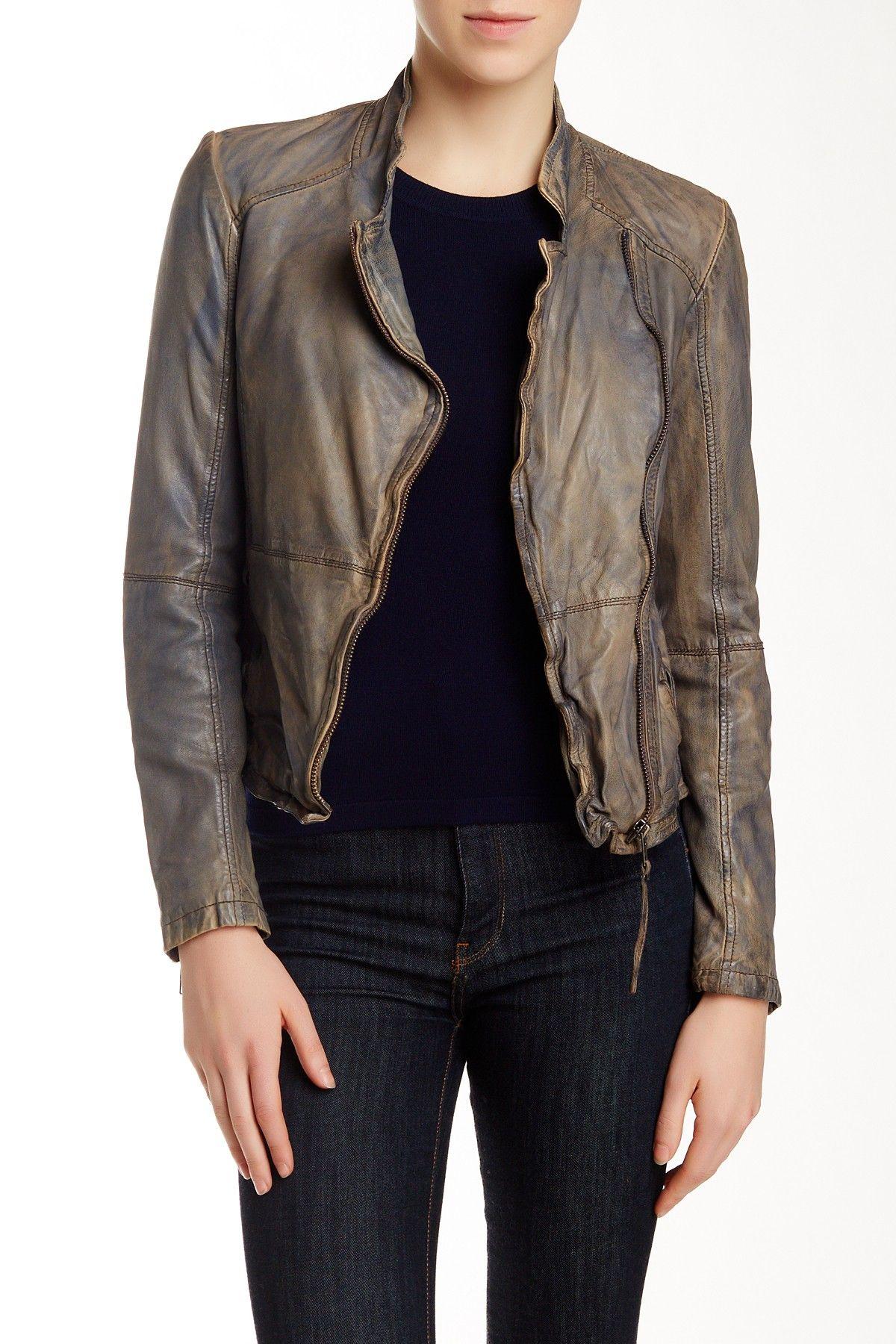 Muubaa Kendyll Leather Biker Jacket Hautelook Biker Jacket Jackets Real Leather Jacket [ 1800 x 1200 Pixel ]