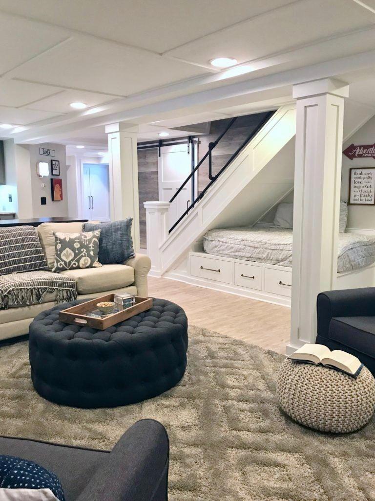 Interior Decoration Large Basement Ideas Walkout Basement Renovation 20190125 Basement Makeover Basement House Cozy Basement