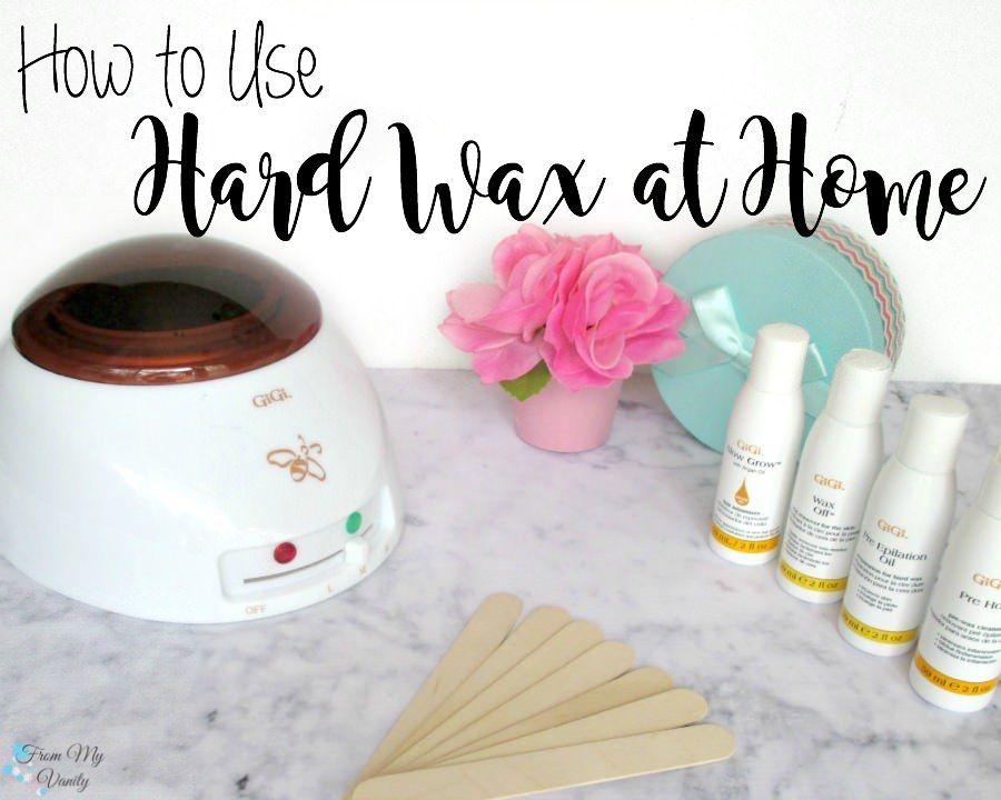 How To Use Hard Wax At Home Diy hair wax, At home