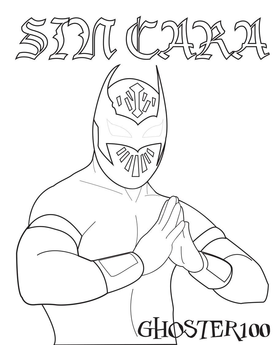 sin ciara color pages | Sin Cara Vector by ~ghoster100 on ...