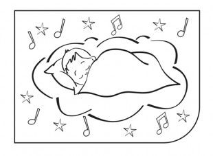 Download And Print Off Our Colouring Picture Of A Baby Sleeping In