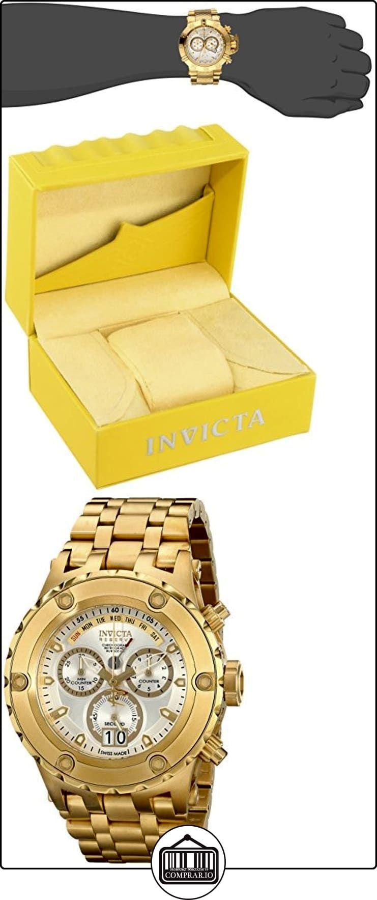 67adddbac Invicta 14471 - Reloj para hombres, correa de acero inoxidable color dorado  ✿ Relojes para hombre - (Lujo) ✿
