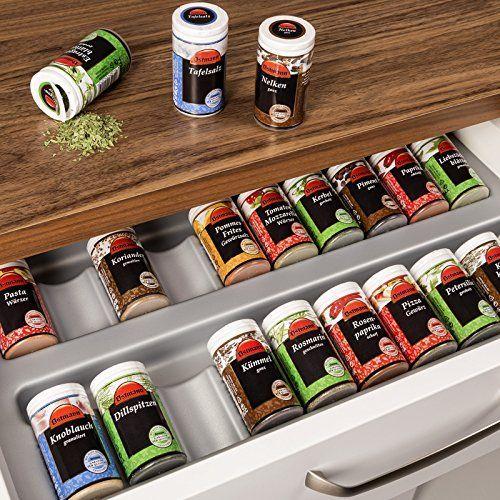 ORGA-BOX® Gewürzgläsereinsatz Gewürzdoseneinsatz / 486 x   - nobilia küchen katalog