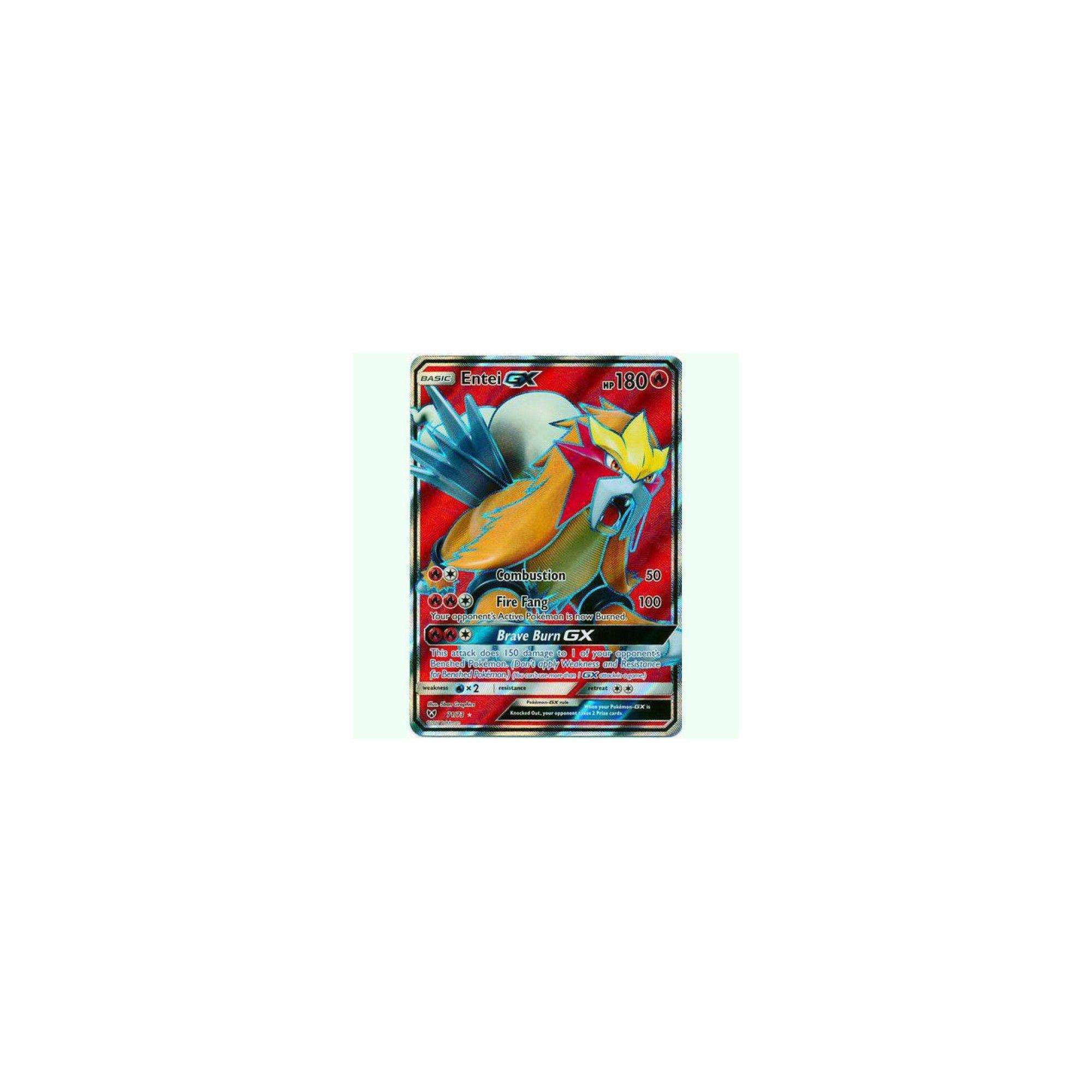 Pokemon Shining Legends Ultra Rare Full Art Entei GX 71