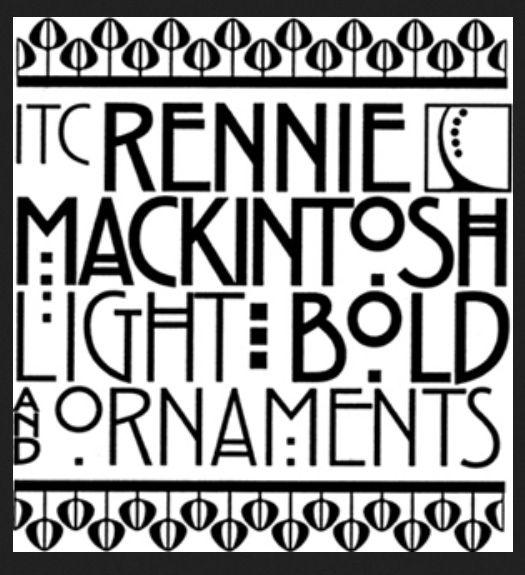 Font Rennie Mackintosh Title Font For American Horror Story Charles Rennie Mackintosh Art Deco Font Rennie Mackintosh