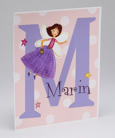 Take a look at this Brown-Haired Fairy Personalized Print by Farmhousefive Art for Kids on @zulily today!