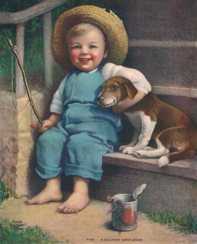 A Country Gentleman Vintage Painting Vintage Illustration Art