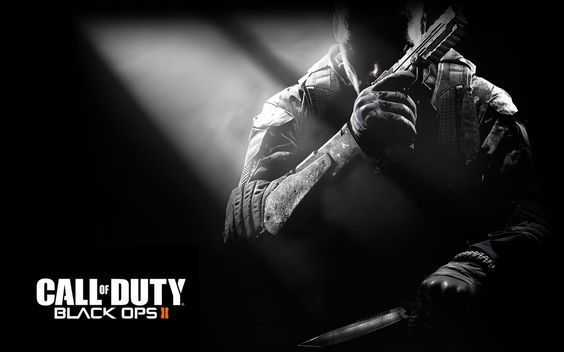 Download Call Of Duty Black Ops 2 Black And White Wallpaper