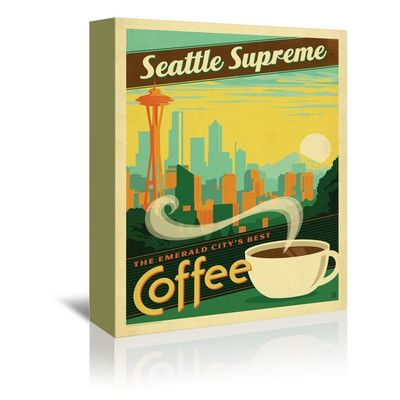 """East Urban Home Seattle Supreme Vintage Advertisement on Gallery Wrapped Canvas Size: 48"""" H x 32"""" W x 1.5"""" D"""