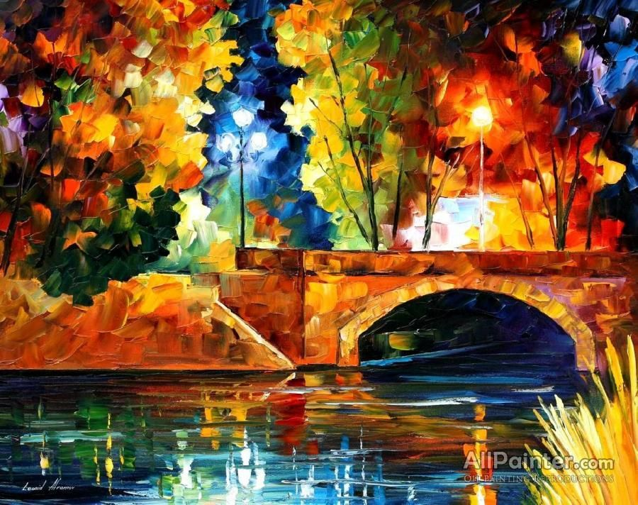 Leonid Afremov Bridge Over The Life Oil Painting Reproductions