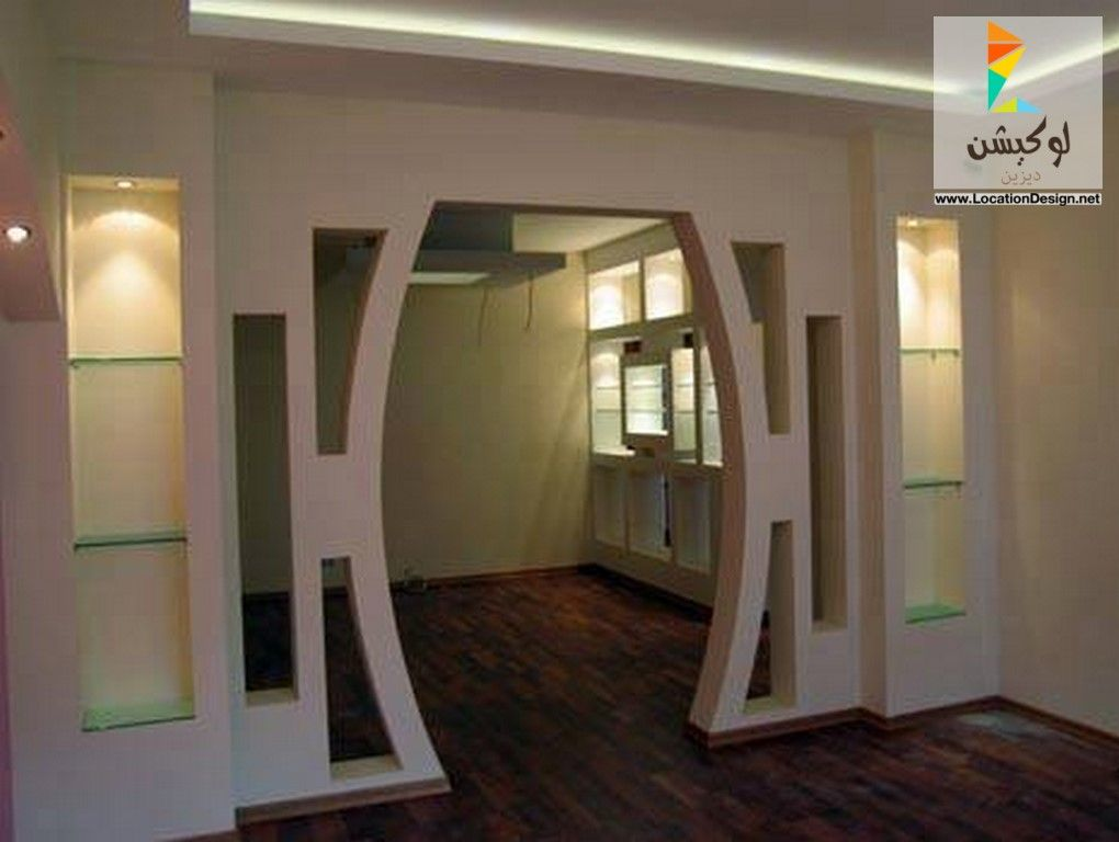 ديكورات جبس فواصل صالات بالجبس 2017 2018 لوكشين ديزين نت Plafond Design Door Glass Design Bungalow House Design