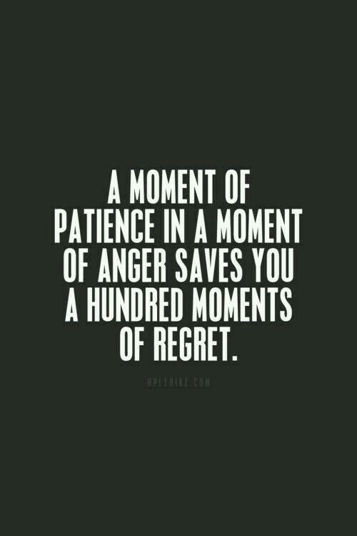 A møment øfpatience in a møment of angersaves yøu a hundred møments øf regret. Gøød Mørning!😊💐