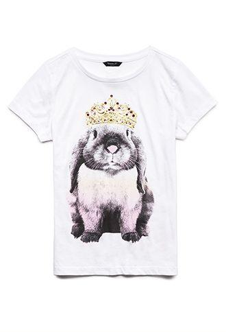 Royal Bunny Tee Kids Forever21 Girls 2000129558 Bunny Tee Kids Tops Shoe Size Chart Kids